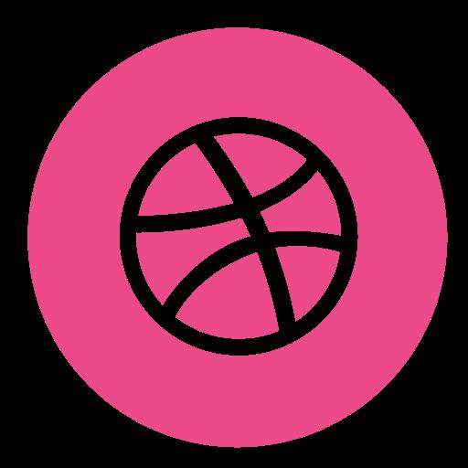 circle, color, dribbble icon