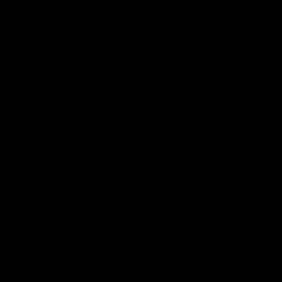 dribbble, six icon