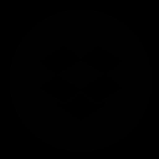 circle, dropbox icon