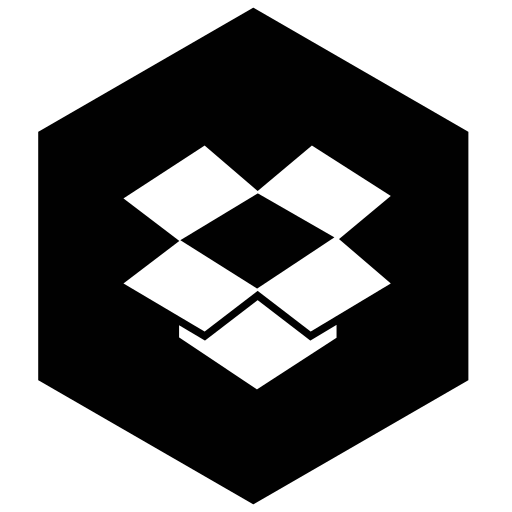 dropbox, six icon