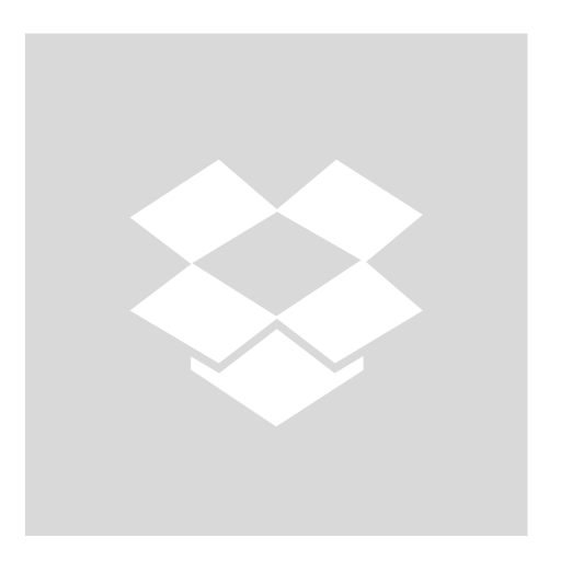 dropbox, gray, square icon