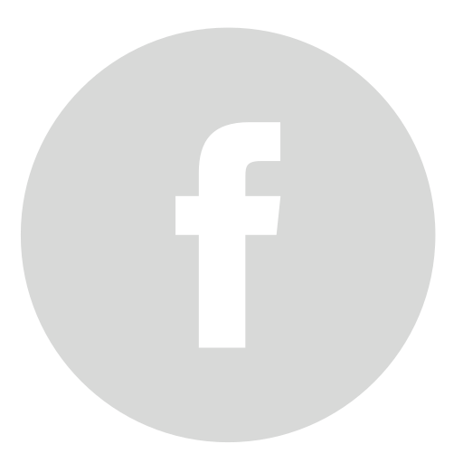 circle, facebook, gray icon
