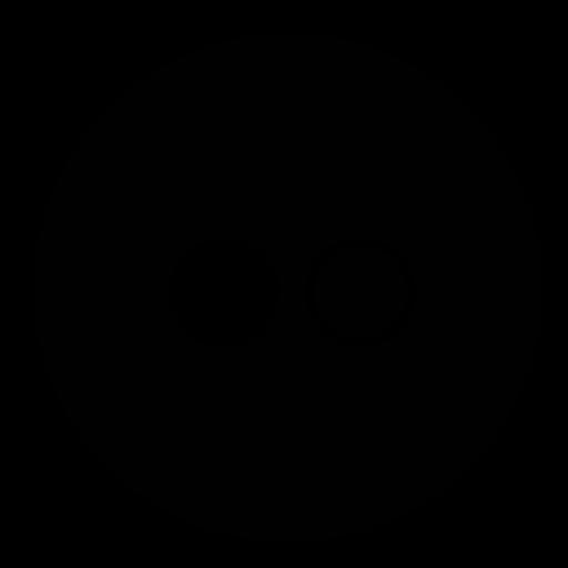 circle, flickr icon