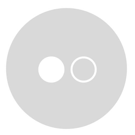 circle, flickr, gray icon