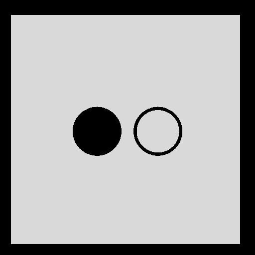 flickr, gray, square icon
