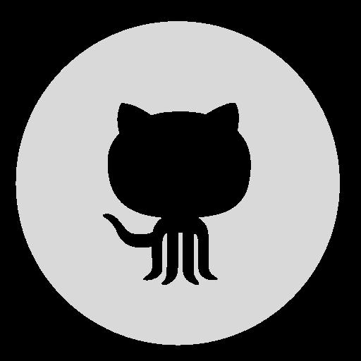 circle, github, gray icon