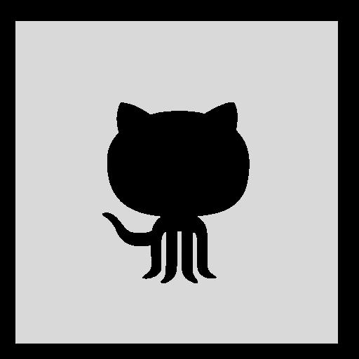 github, gray, square icon