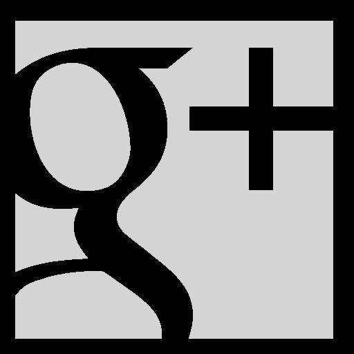 google, gray, square icon