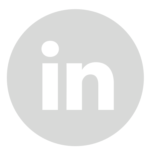 circle, gray, linkedin icon