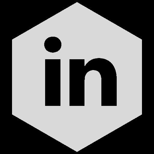 gray, linkedin, six icon
