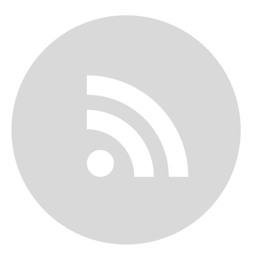 circle, gray, rss icon