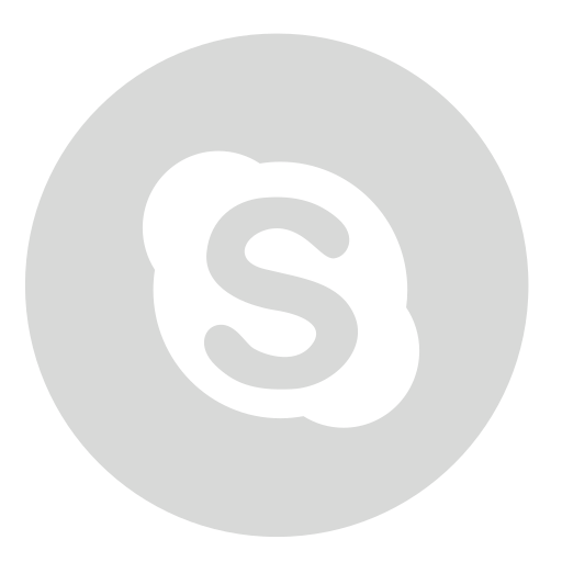 Gray, circle, skype icon - Free download on Iconfinder
