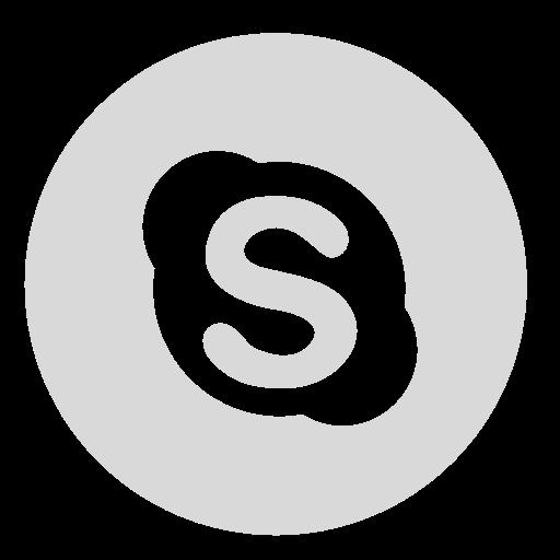 circle, gray, skype icon