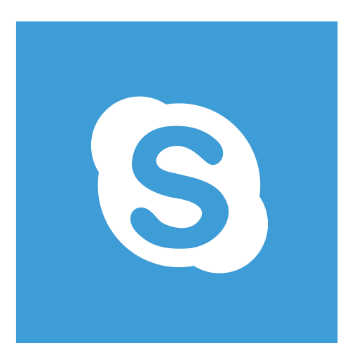 color, skype, square icon