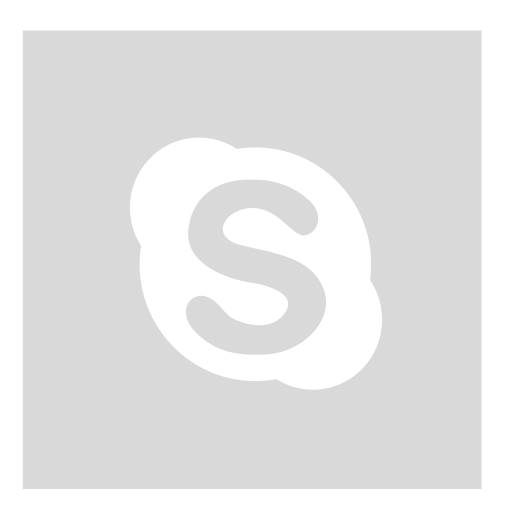 gray, skype, square icon
