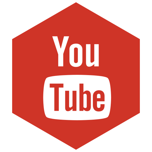 color, six, youtube icon