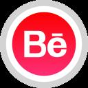 behance, logo, media, social