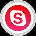 logo, media, skype, social