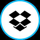 dropbox, logo, media, social icon