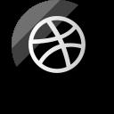 dribbble, logo, media, social