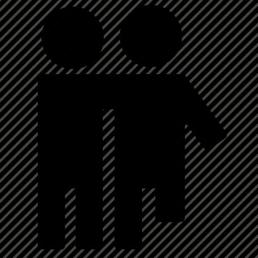 handicap, helper, lame, love, man, people, support icon
