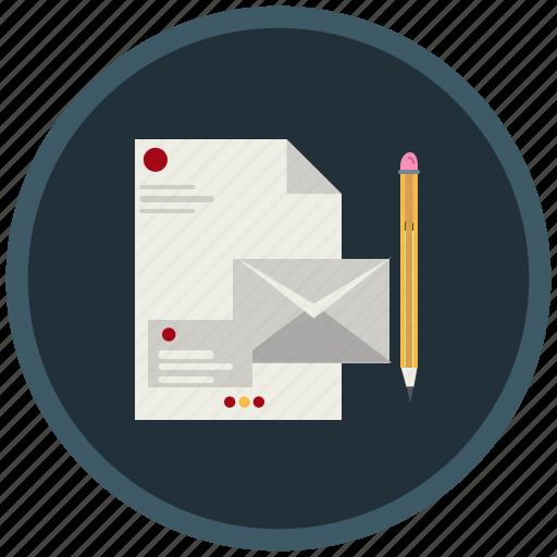 branding, design, document, envelop, indentification, papers icon