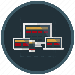 design, development, devices, responsive, web icon