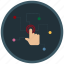 application, hand, interaction, mobile, pattern, smartphone icon