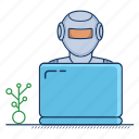 adviser, advisor, artificial, assistant, intelligence, robo, robot icon