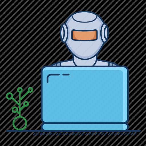 adviser, advisor, artificial, assistant, intelligence, robo, robot icon