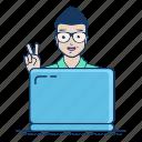 freelancer, getting, hiring, job, order, project, start icon