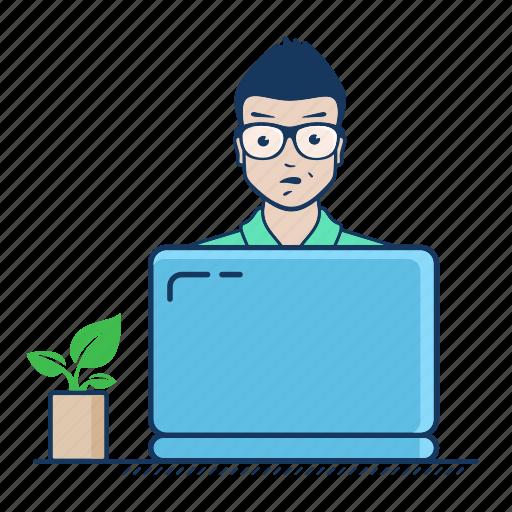 app, development, freelancer, job, laptop, web, work icon