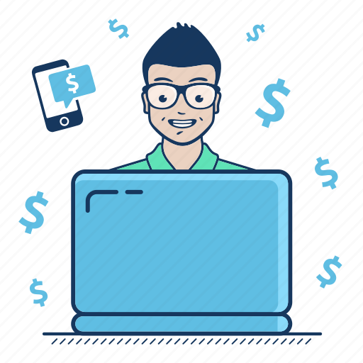 earn, freelancer, get, money, payment, system, transfer icon