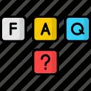 cubes, blocks, faq, help, question mark