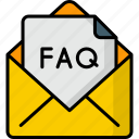 faq, question, help, mail, letter, email