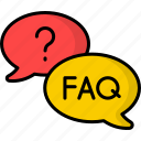 faq, answer, speech bubble, discussion, question and answer, question, q&a