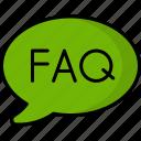 faq, support, question, help, service, speech bubble