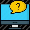 question, mark, faq, support, help, service, online faq