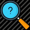 search, faq, find, magnifier, question, seo