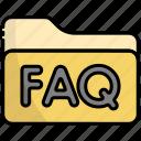 folder, faq, file, answer, question, support