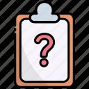 clipboard, faq, question, answer, help, support