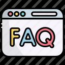 webpage, website, browser, faq, question, answer, help