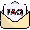 mail, message, email, question, answer, faq, help