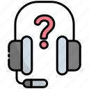 headphone, support, service, help, communication, question