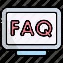 monitor, desktop, answer, faq, question, support, help