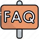 sign, faq, help, support, ask, information