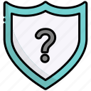 shield, secure, safety, question, support, ask, help