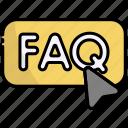 button, faq, ui, question, answer, click