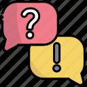 chat, faq, message, talk, question, answer