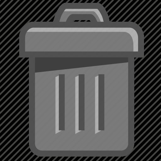 bin, delete, dustbin, recycle, recycle bin, trash, trash can icon